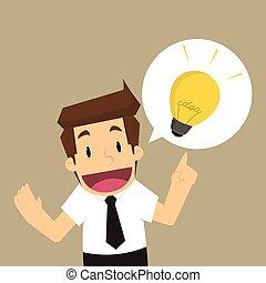 forretningsmand, ide, offer