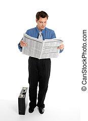 forretningsmand, læse avis