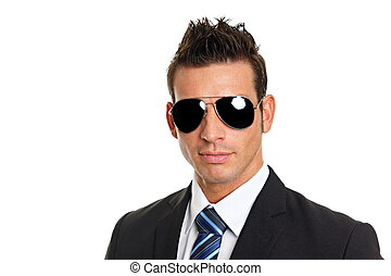 forretningsmand, sunglasses, pæn