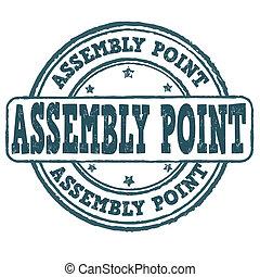 forsamling, punkt, frimærke