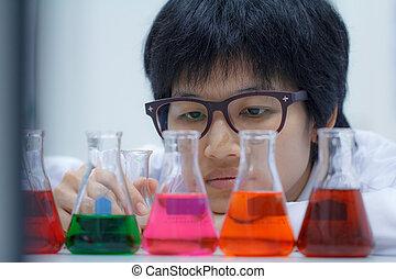 forscher, chemische , arbeitende