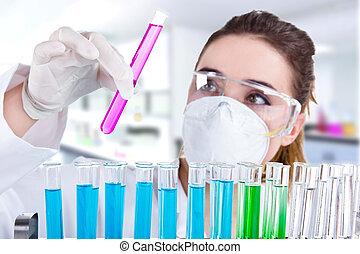 forscher, laboratorium, weibliche