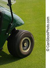 forside hjul, i, golf cart
