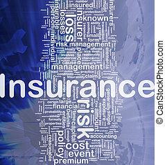 forsikring, baggrund, begreb