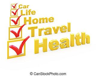 forsikring, checklist