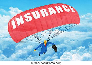 forsikring, faldskærm