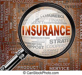 forsikring, forstørrelsesapparat, betyder, forsikr,...