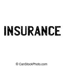 forsikring, frimærke, på hvide