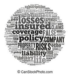 forsikring, glose, sky