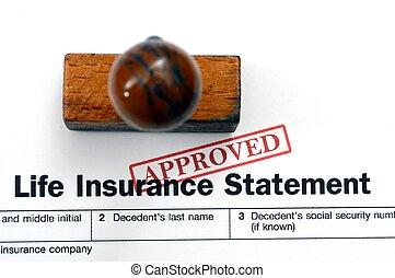 forsikring liv, erklæring