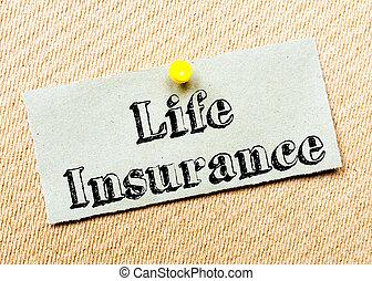 forsikring liv, meddelelse