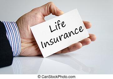 forsikring liv, tekst, begreb