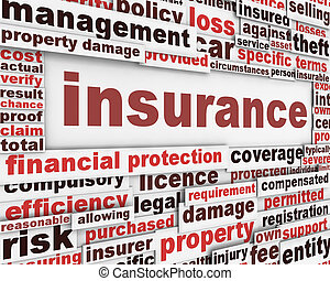 forsikring, meddelelse, begreb