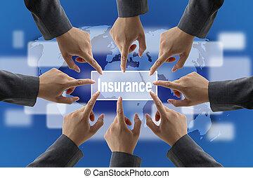 forsikring, risiko, ledelse hold