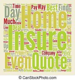 forsikring til hjem, glose, sky, begreb, tekst, baggrund