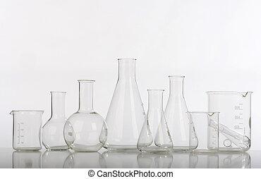 forska labb, blandad, glas