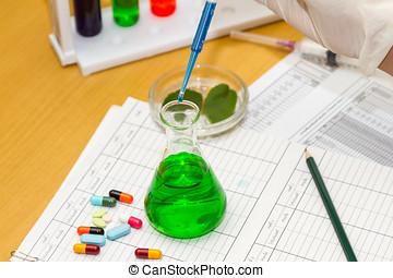 forskare, arbeta vid, den, laboratory.
