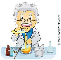 forskare, in, a, laboratorium