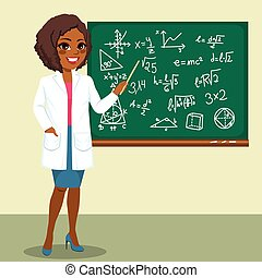 forskare, kvinna, raket