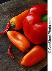 forskellige, friske grønsager