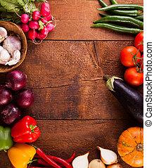 forskellige, grønsager