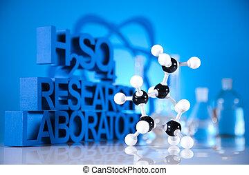 forskning, og, eksperimenterne, kemi