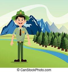 Emblem Ranger B 228 Ume Wald Logo Oder Elemente Eps Vektoren Suche Clipart