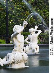 forsyth, 公園, 噴水