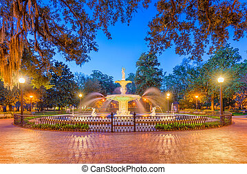 Forsyth Park, Savannah, Georgia, USA