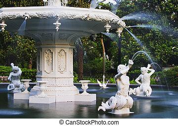 forsyth, parque, fuente