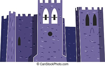 Fort Abbey vector illustration - Fort Abbey famous city...