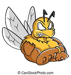 fort, abeille, mascotte