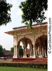 fort, agra, inde, passage