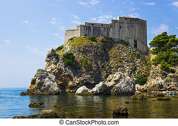 Fort at town Dubrovnik in Croatia