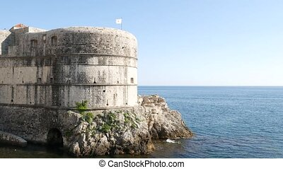 Fort Bokar - on the walls of the old city of Dubrovnik, ...