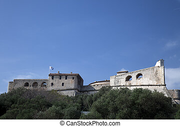 Fort Carre as seen from below in Antibes France.