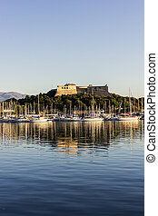 Fort Carre in Antibes in France in the morning