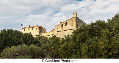 Fort Carre walls in Antibes, France