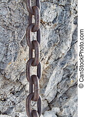 fort, chaîne, rocher