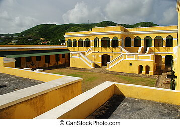 fort, christiansted, straat. croix, usvi