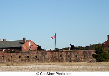 Fort Clinch Florida - External view of Fort Clinch in...