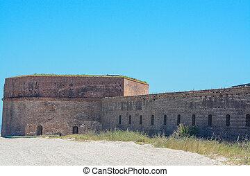 Fort Clinch State Park at Fernandina beach in Nassau County, Florida USA