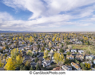 Fort Collins aerial view - aerial view of Fort Collins ...