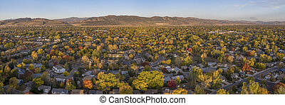 Fort Collins and Front Range aerial view - city of Fort ...