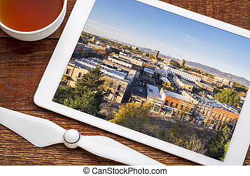 Fort Collins downtown aerial view - reviewing aerial ...