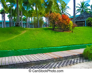 Fort-de-France, Martinique - green beach on the coast of ...