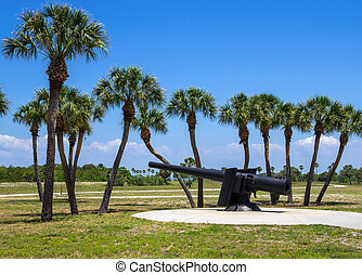 Fort de Soto, Florida - 19th Century Canon at Fort De Soto,...