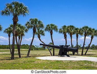Fort de Soto, Florida - 19th Century Canon at Fort De Soto,...