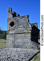 Fort Frederica Ruins on St. Simons - The ruins of the ...