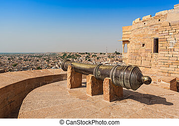 "Fort in Jaisalmer, India. Jaisalmer ""the golden city"" stands..."